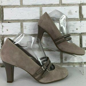 Giani Bernini Valley Brown Suede Dress Pumps